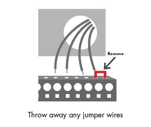how do i wire my thermostat? sensi thermostat support sensiyour new sensi thermostat has the jumper wire built into the back of the thermostat faceplate leave all other wires